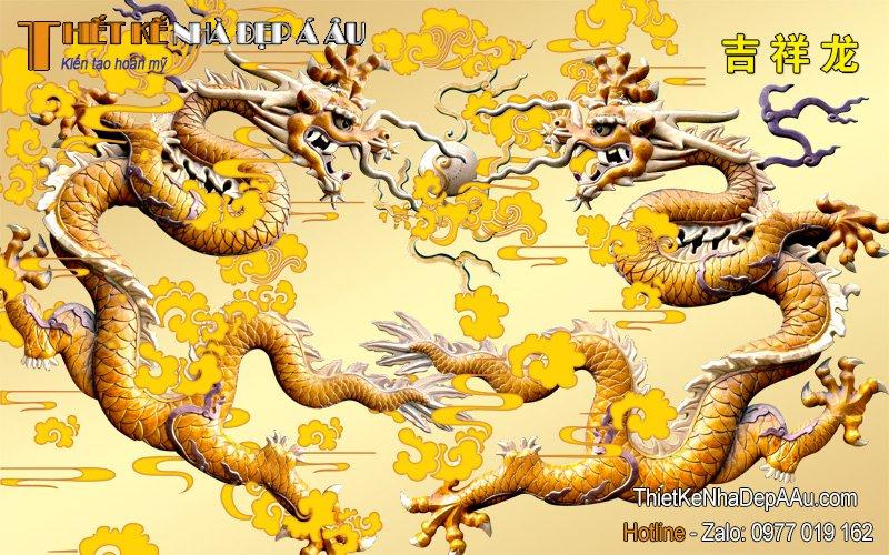 Tranh rồng vàng tài lộc