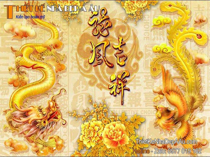 Tranh rồng vàng