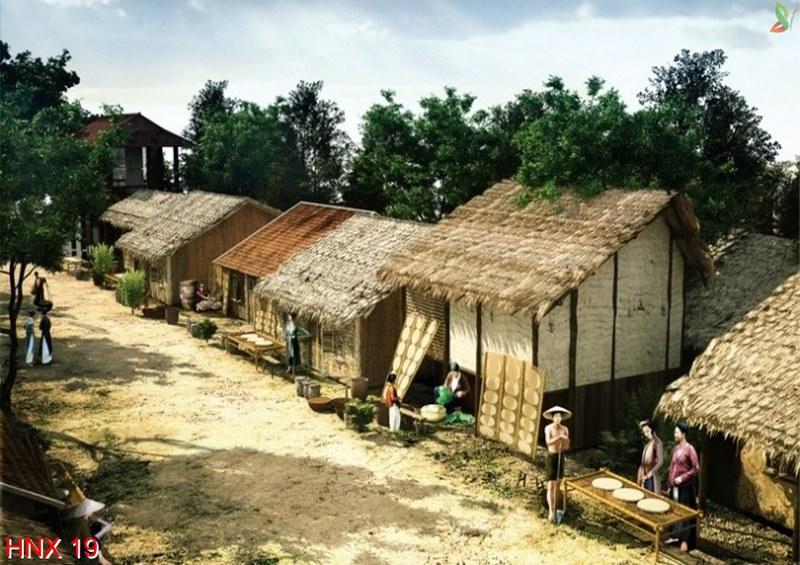 tranh phong cảnh làng quê hợp năm sinh 1947 đinh hợi