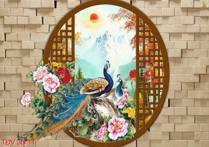 tranh chim công hợp năm sinh 1971 tân hợi mệnh kim