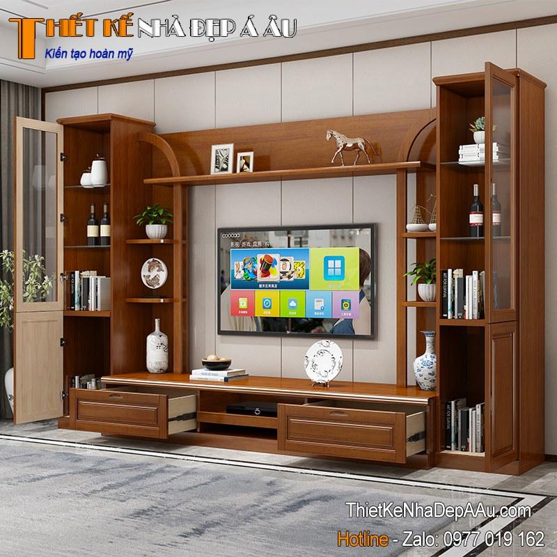 tủ tivi dành cho biệt thự