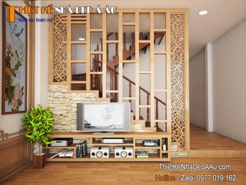 Vách ngăn gỗ phòng khách