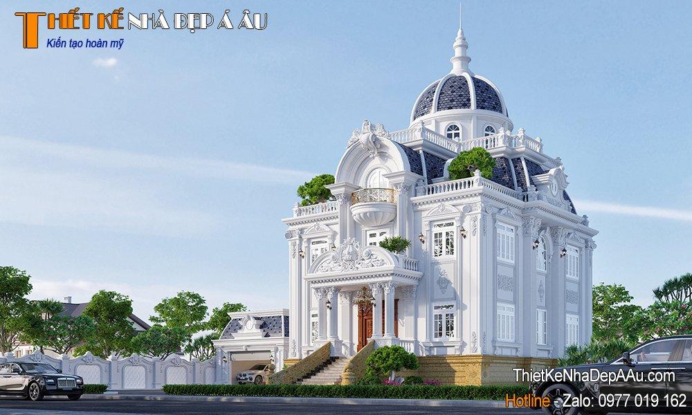 Mẫu biệt thự 3 tầng cổ điển kiểu Pháp