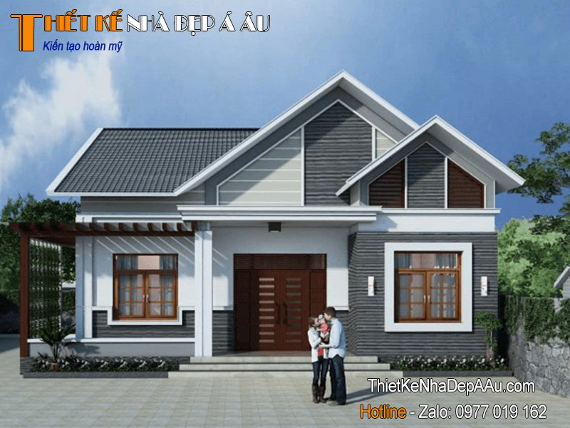 Công trình nhà 1 tầng mái thái ở nông thôn