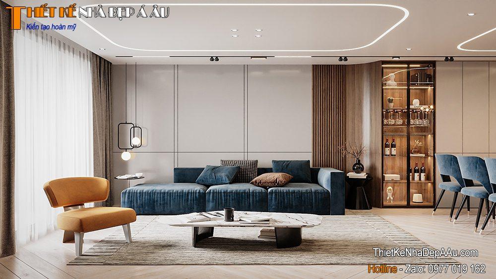 Phòng khách căn hộ chng cư cao cấp