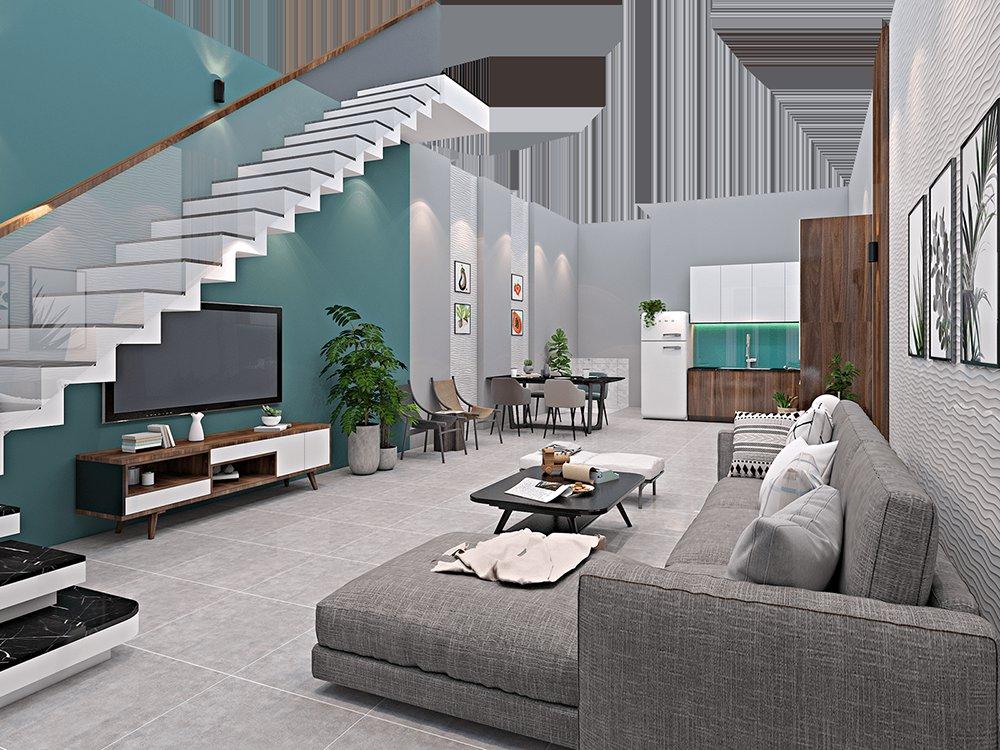 Thiết kế nội thất nhà phố 3 tầng 4x16m