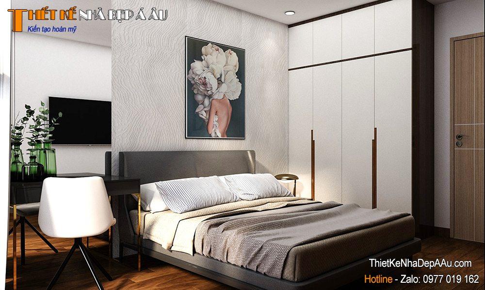 Thiết kế nội thất phòng ngủ chung cư hiện đại