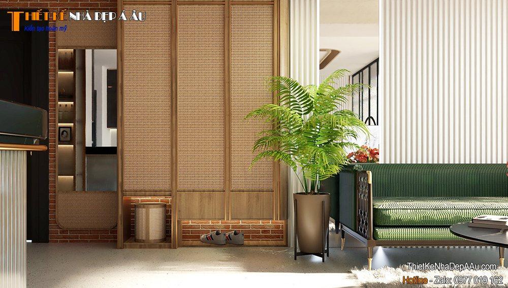 Không gian nội thất phòng khách căn hộ chung cư 90m2