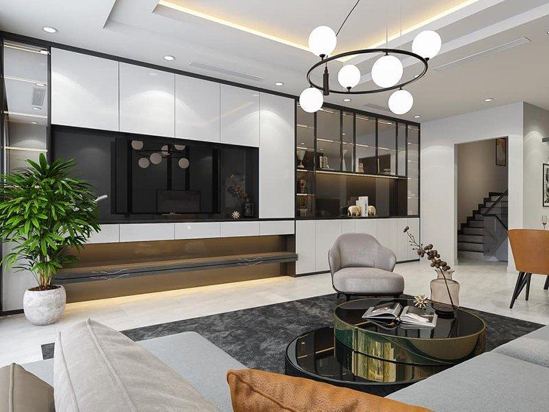 thiết kế nội thất căn hộ 100m2 hiện đại