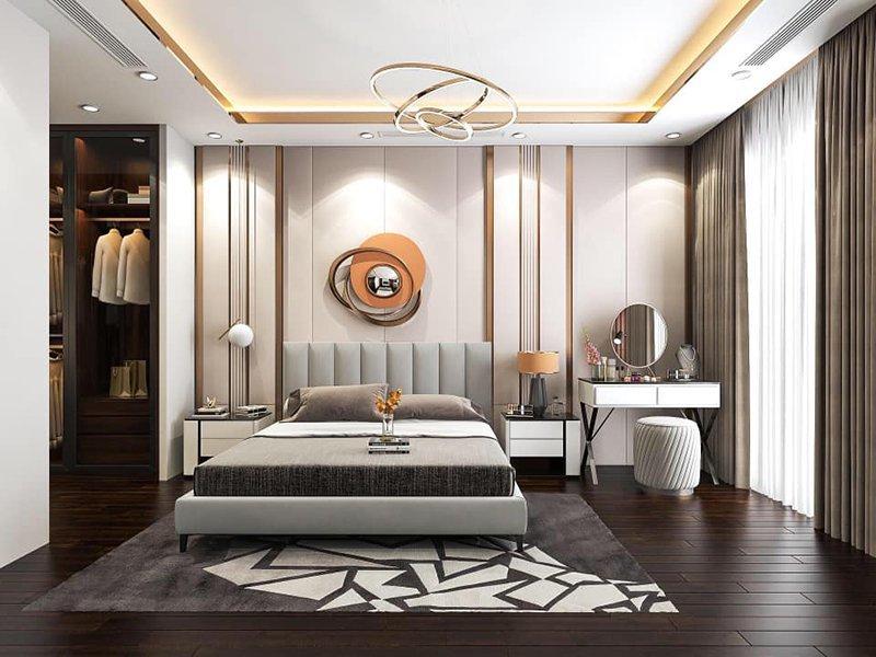 Căn phòng luôn căn bằng ánh sáng tự nhiên và ánh sáng đèn điện tạo cảm giác thoải mái