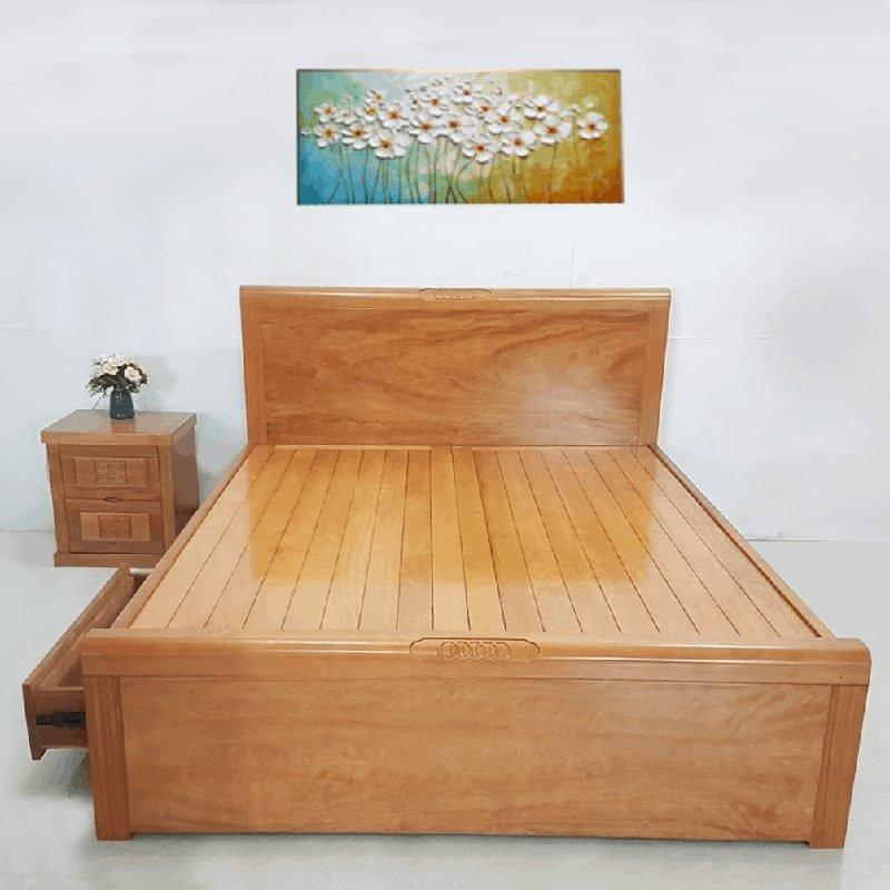 giường gỗ xoăn đào