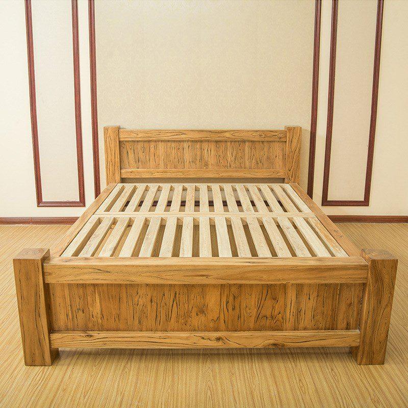 Khung giường gỗ tự nhiên