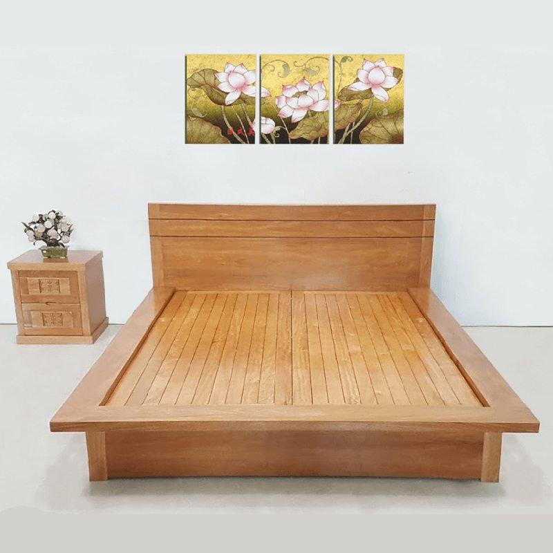 Mẫu giường gỗ sồi