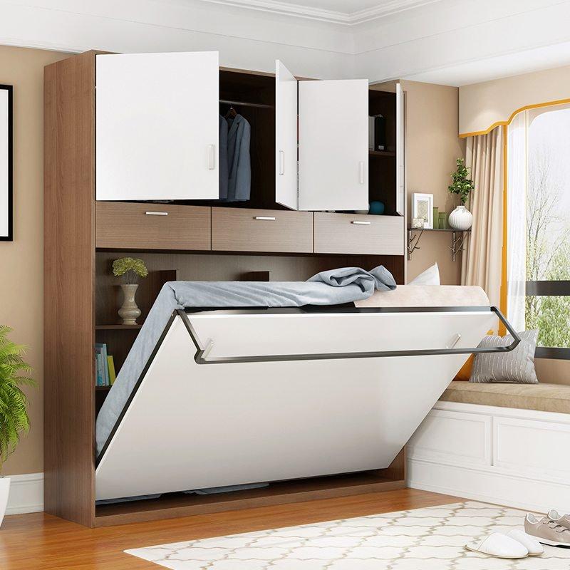 chiếc giường kết hợp với tủ quần áo