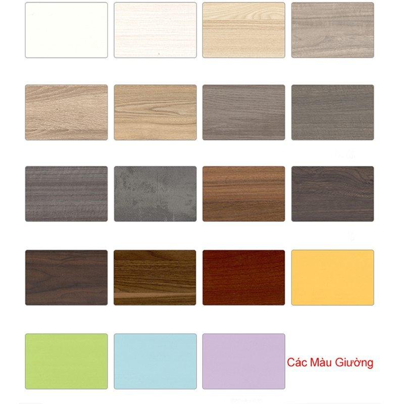 Màu sắc gỗ công nghiệp sử dụng làm giường