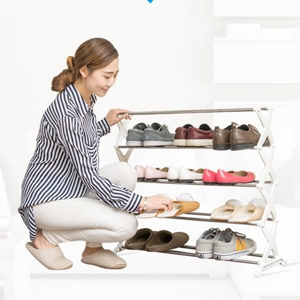 Mẫu ngăn đựng giày bằng inox