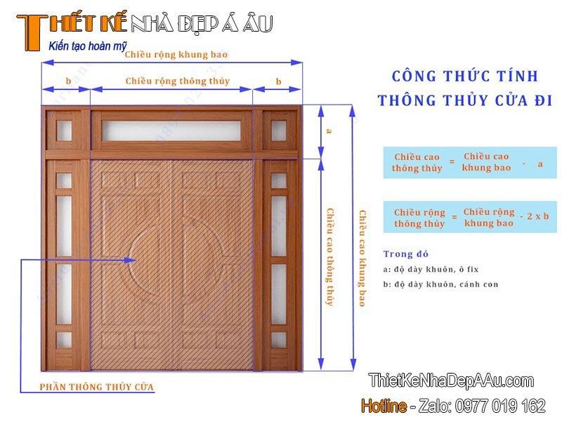 cách tính kích thước cửa chính