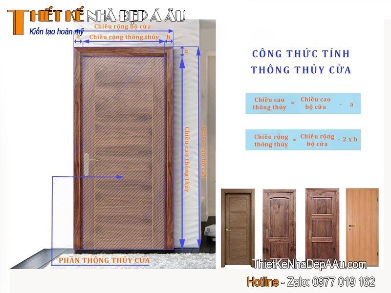 cách tính kích thước cửa phòng ngủ
