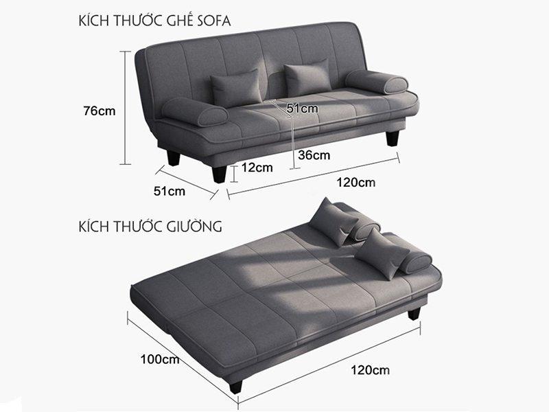 kích thước sofa đa dạng