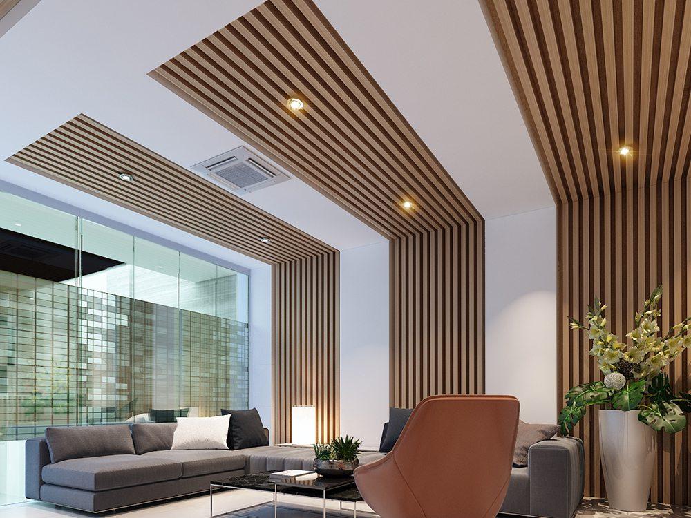 Lam gỗ trần