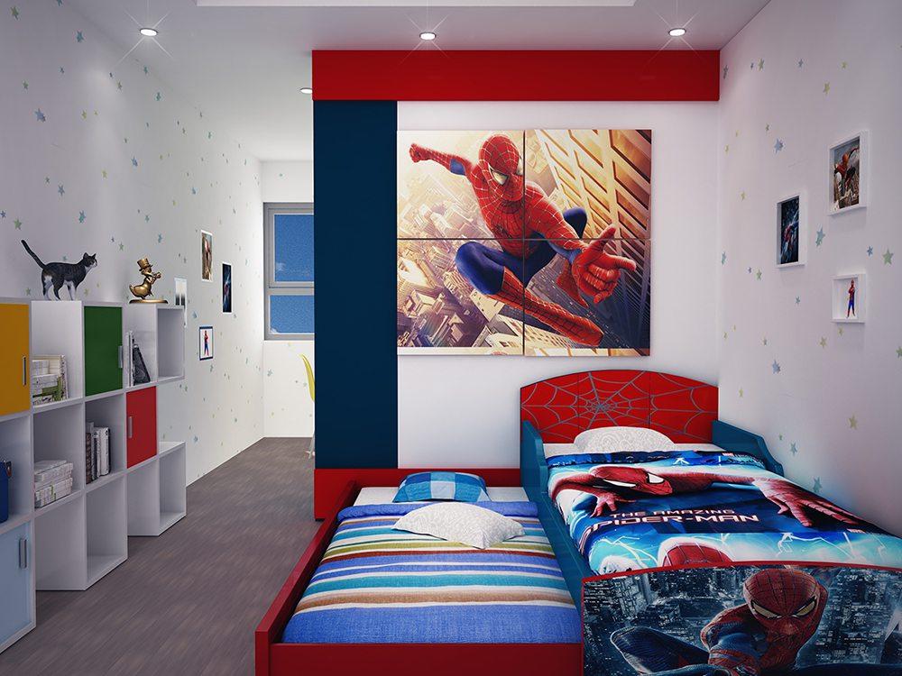 Mẫu phòng ngủ bé trai đẹp