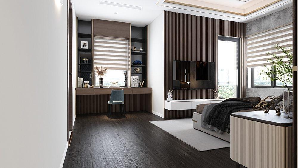 trang trí nội thất phòng ngủ 20m2