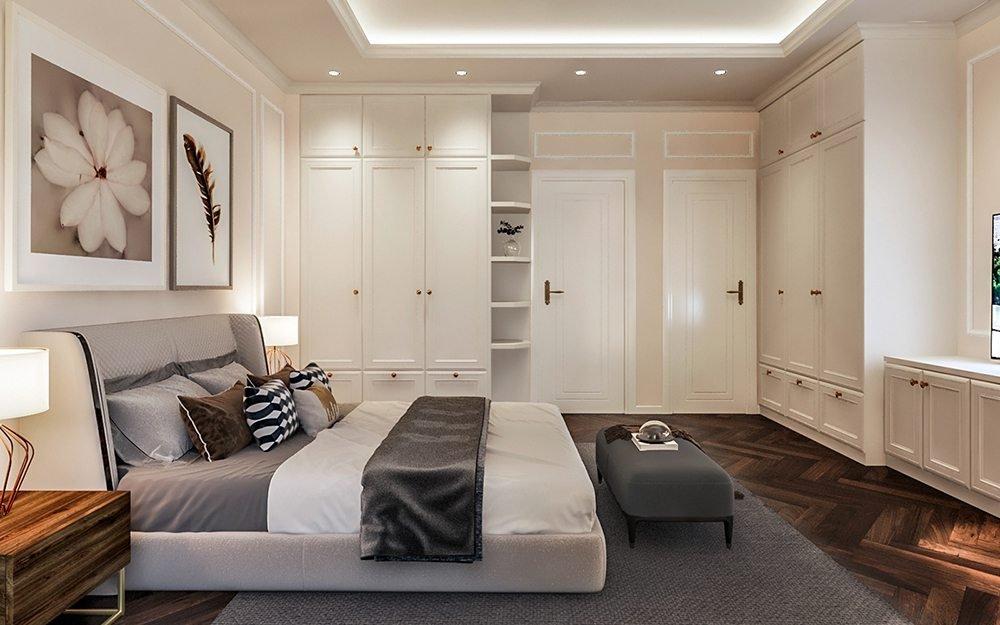 thiết kế nội thất phòng ngủ 18m2