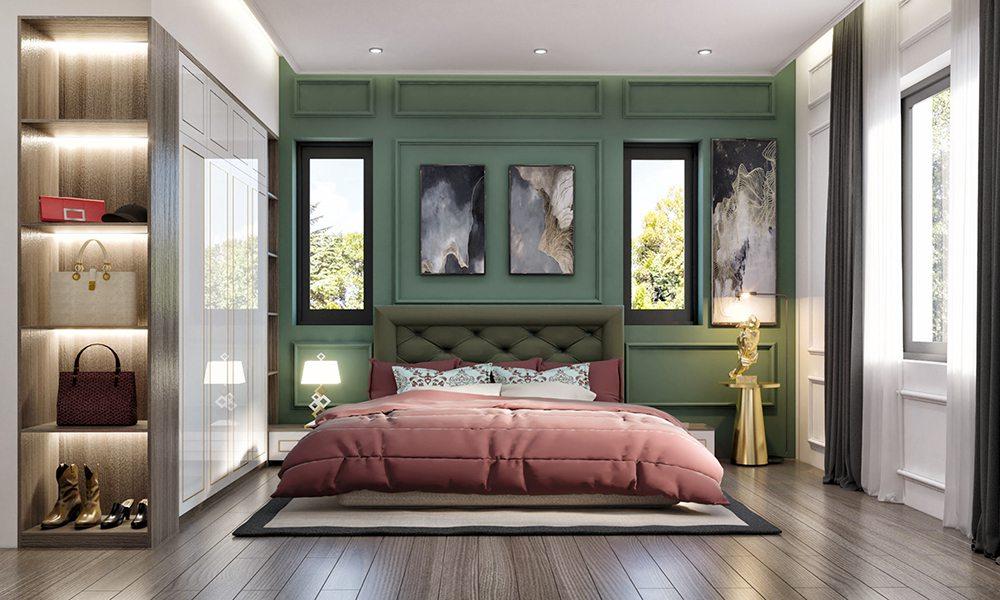 trang trí phòng ngủ hợp mệnh mộc
