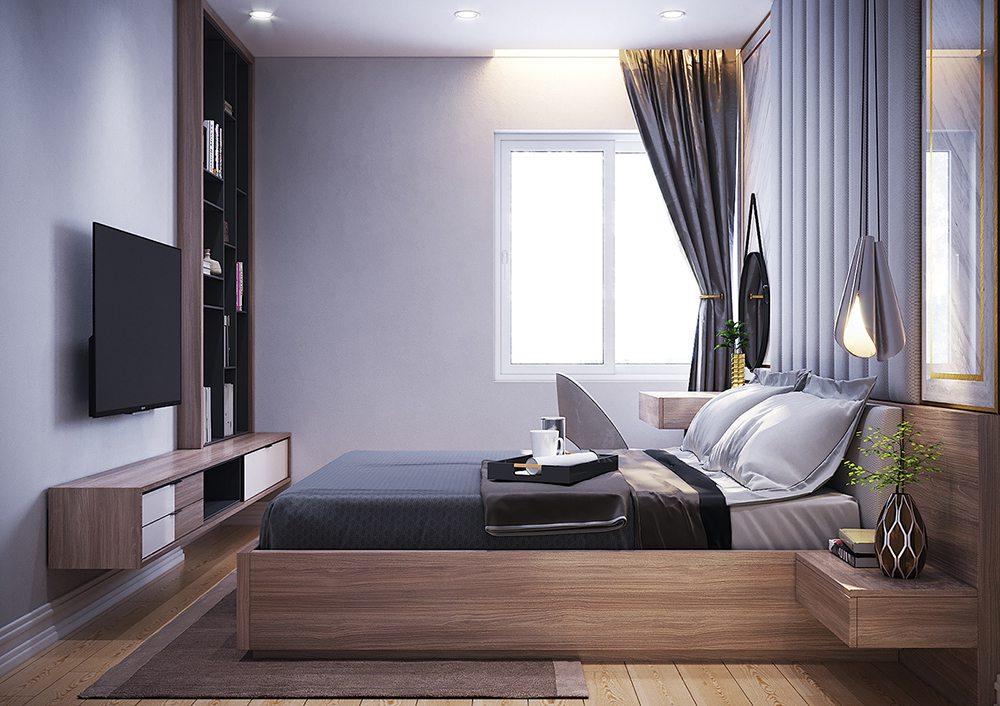 màu sơn phòng ngủ hợp mệnh thủy
