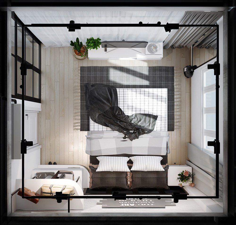 xu hướng trang trí phòng ngủ tối giản