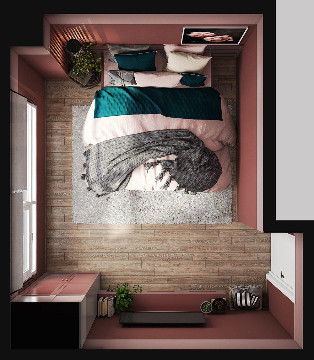 trang trí nội thất phòng ngủ nhỏ