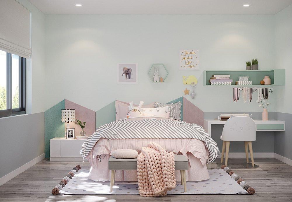 phòng ngủ nhỏ bé gái
