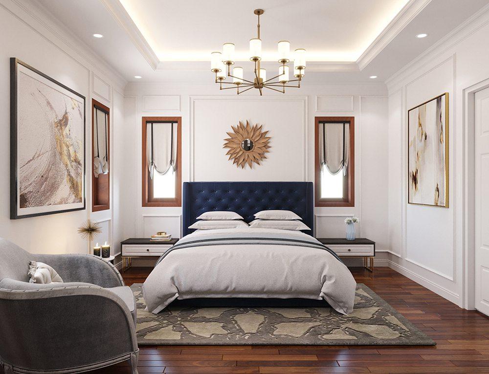 trang trí phòng ngủ phong cách Châu Âu