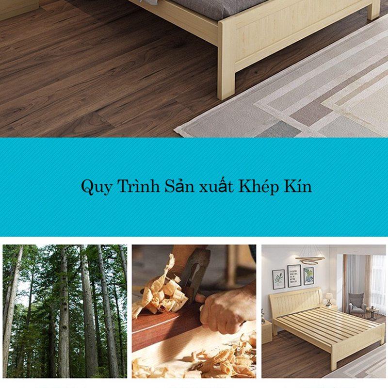 Quy trình sản xuất giường gỗ tự nhiên