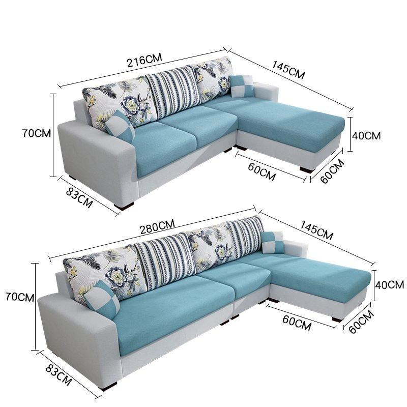 kích thước bộ sofa chữ L