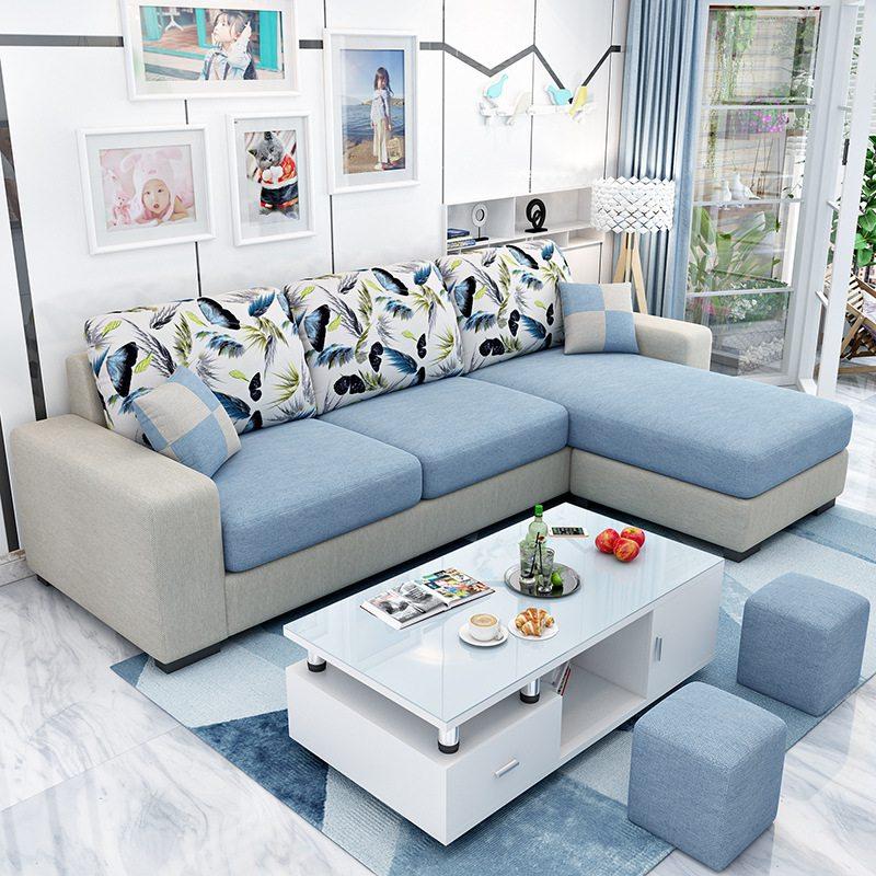 Bộ sofa nỉ màu sắc trẻ trung cá tính