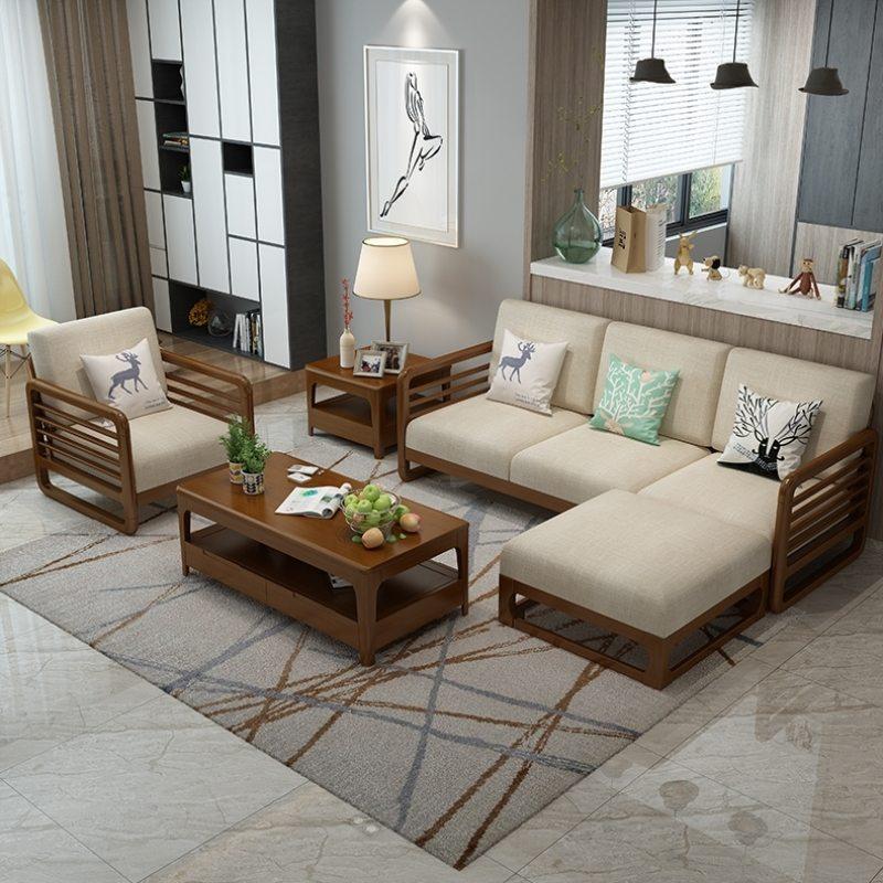 Ghế sofa gỗ chữ L
