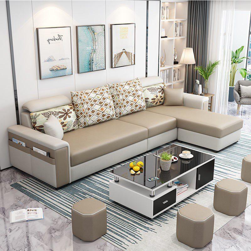Bộ sofa hiện đại bọc da