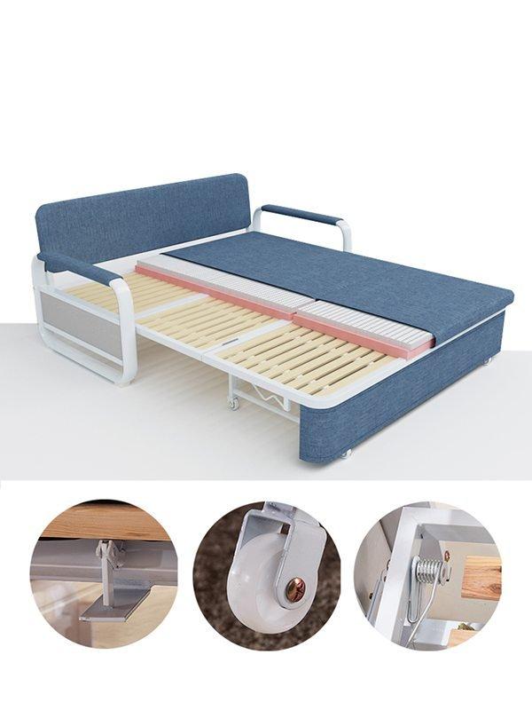 Chân giường lắp bánh xe di chuyển tiện lợi