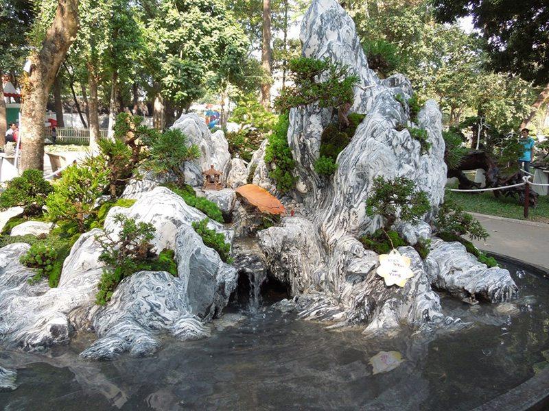 thiết kế tiểu cảnh sân vườn