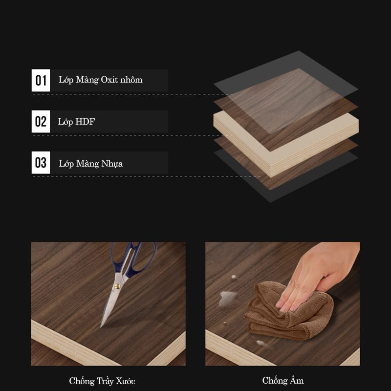 chất liệu gỗ công nghiệp được sử dụng phổ biến để làm giường