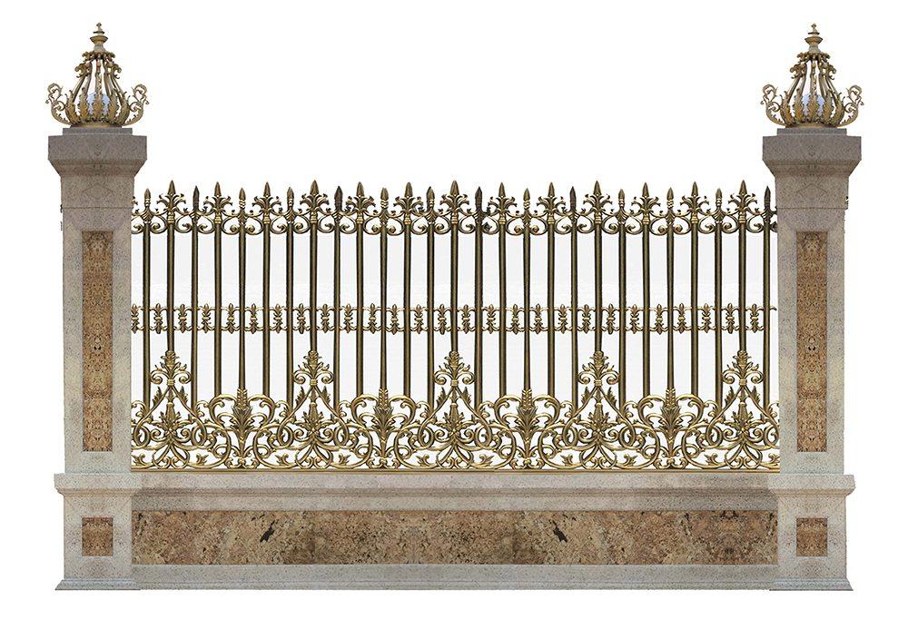 hàng rào nhôm đúc
