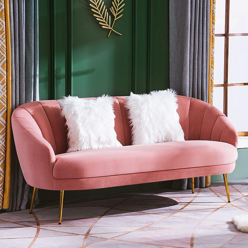 sofa màu hồng