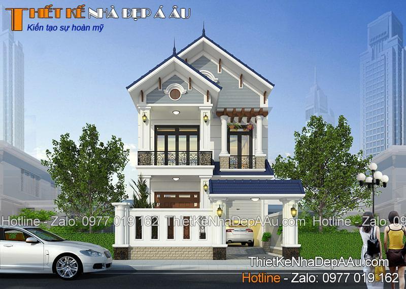 Mẫu nhà đẹp kiến trúc Á Âu