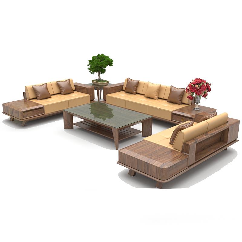 Bộ sofa gỗ óc chó