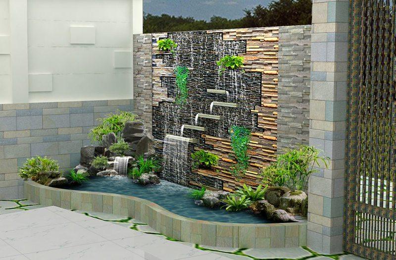 thác nước trong nhà