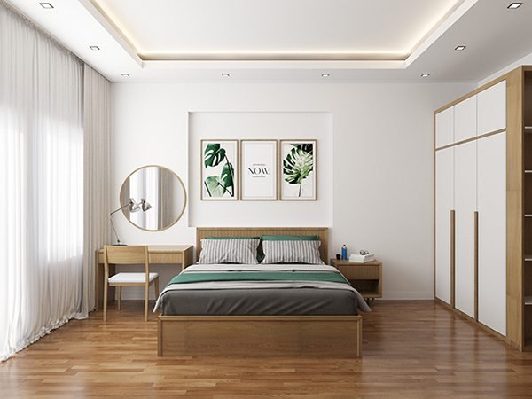 Nội thất phòng ngủ trang trí trần thạch cao