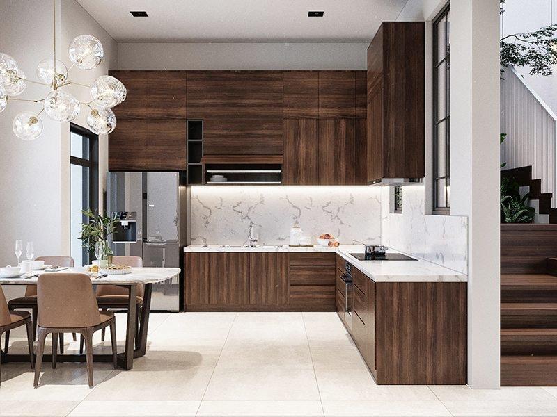 không gian nhà bếp đẹp