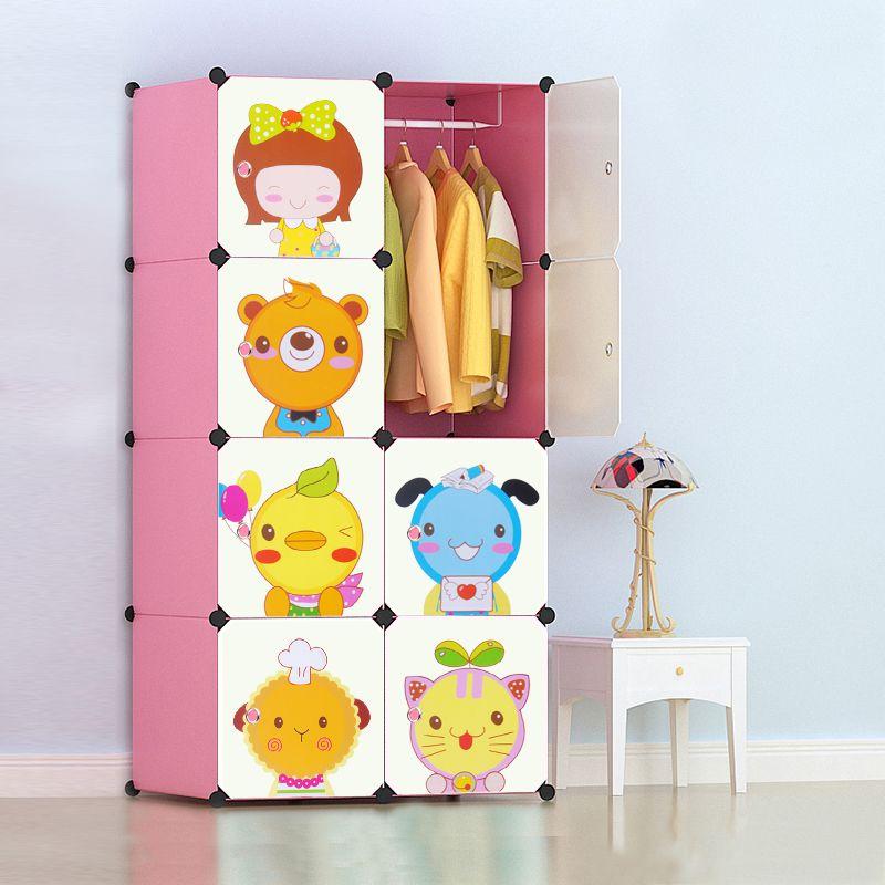 tủ quần áo nhiều ngăn với hoạt hình