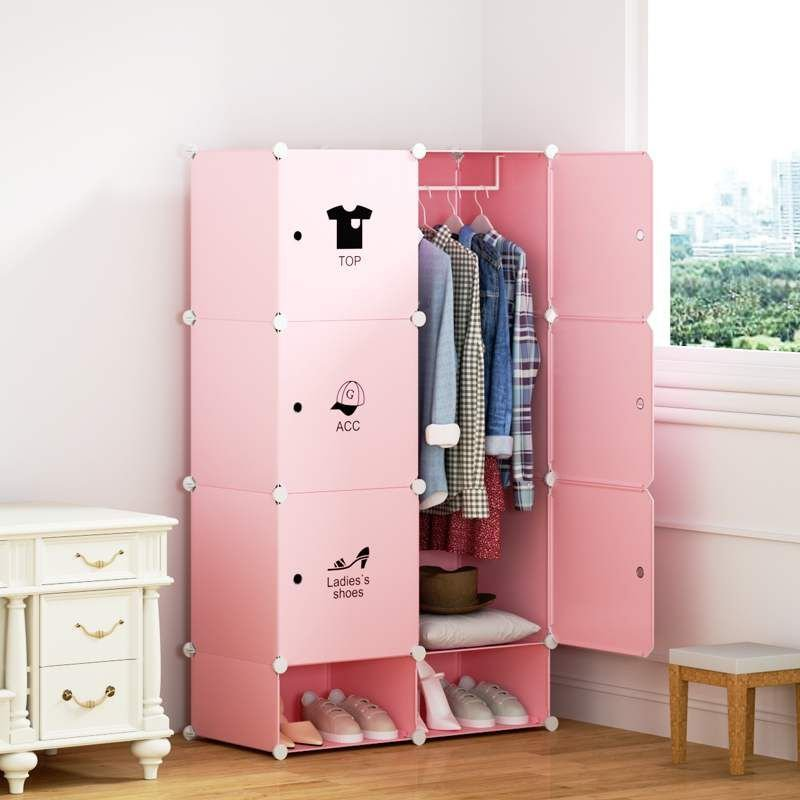tủ nhựa màu hồng
